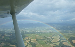 Rainbow viewed from the air