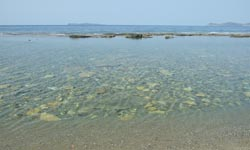 Crystal clear waters at Sitia beach