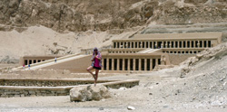 Juan at the Temple of Hapshepsut